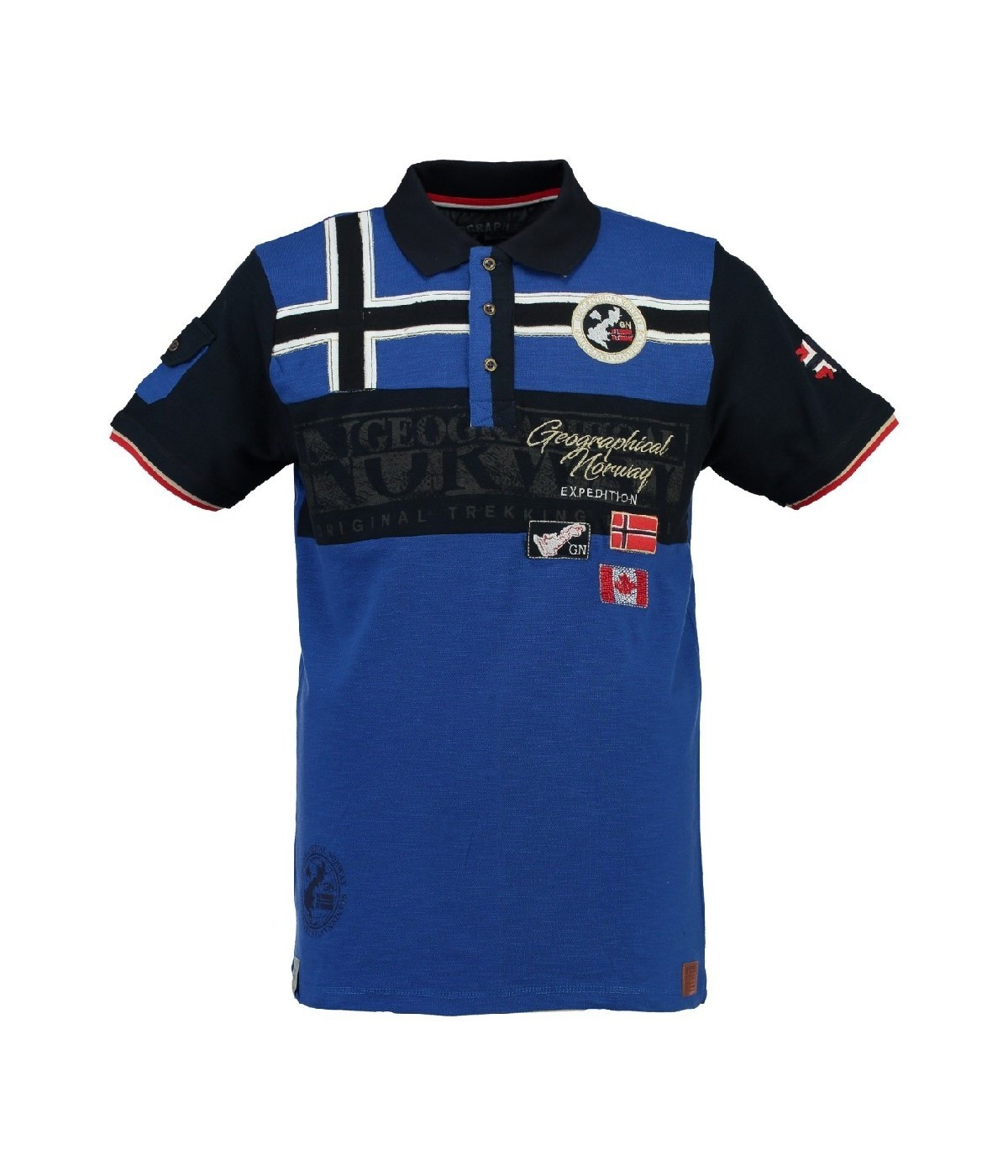 Polo Enfant Geographical Norway Karadok Bleu