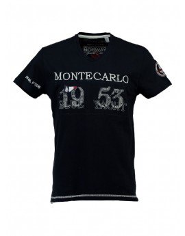 T-shirt Enfant Geographical Norway Jajao Noir