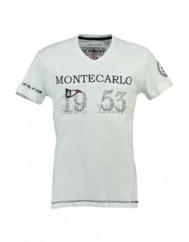 T-shirt Enfant Geographical Norway Jajao Blanc