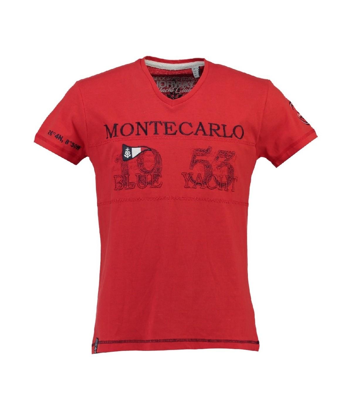 T-shirt Enfant Geographical Norway Jajao Rouge