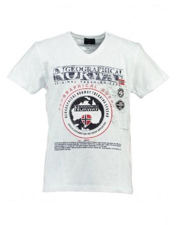 T-shirt Enfant Geographical Norway Jantartic Blanc