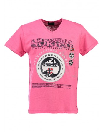 T-shirt Enfant Geographical Norway Jantartic Rose