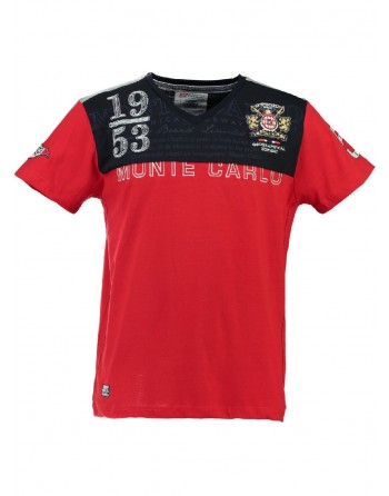 T-shirt Enfant Geographical Norway Javalien Rouge