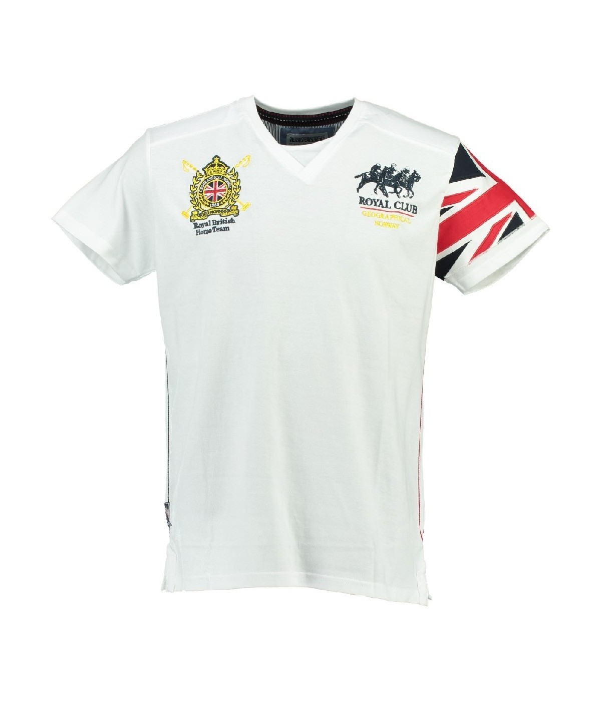 T-shirt Enfant Geographical Norway Jaspire Blanc