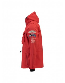 Softshell Homme Geographical Norway Terreaux Rouge