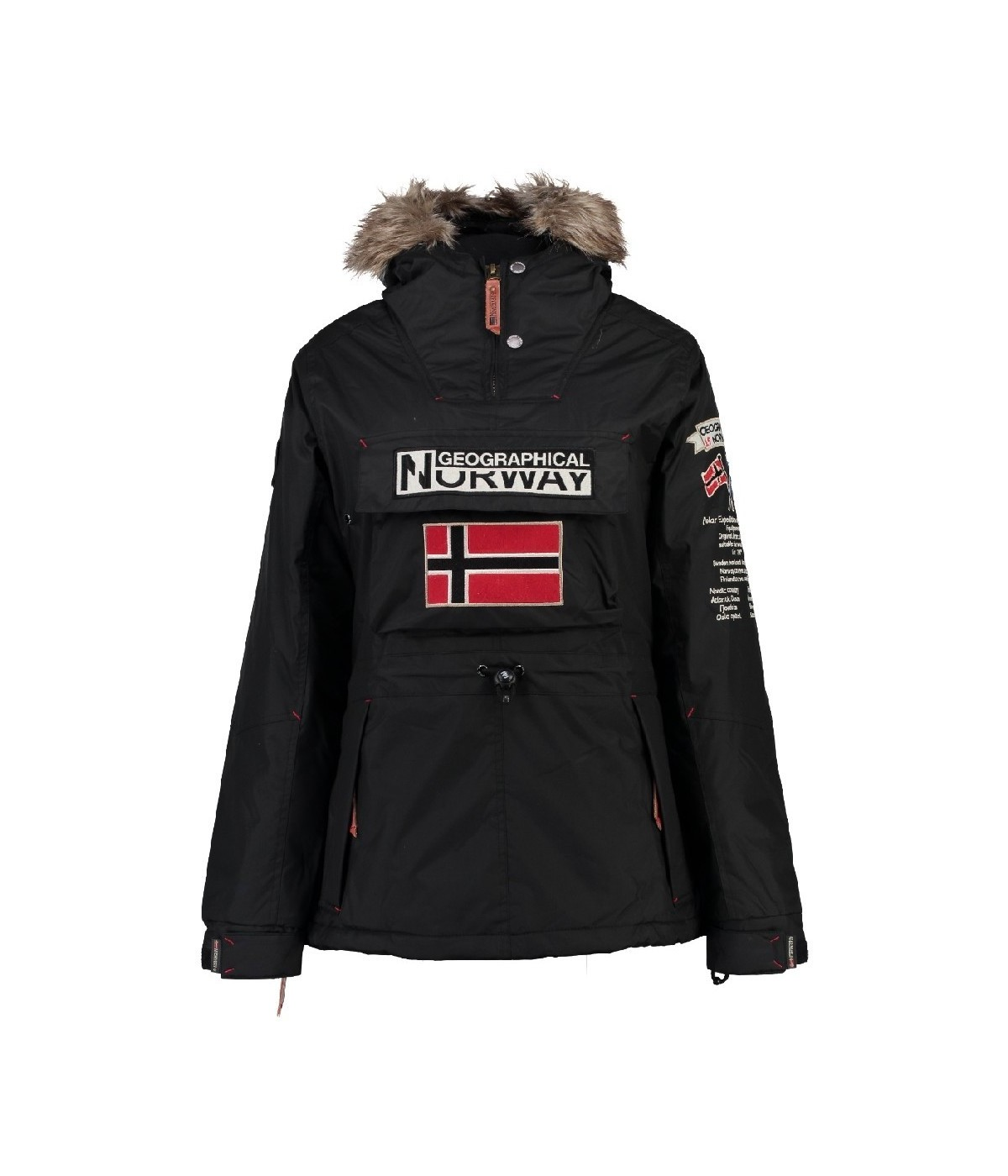 Parka Fille Geographical Norway Boomera Noir