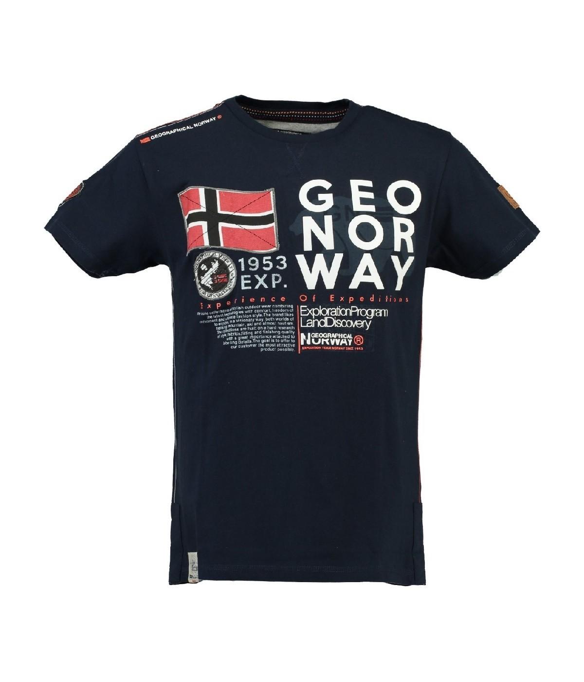Tshirt Homme Geographical Norway Jasado Marine