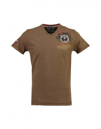 Tshirt Homme Geographical Norway Javigation Taupe
