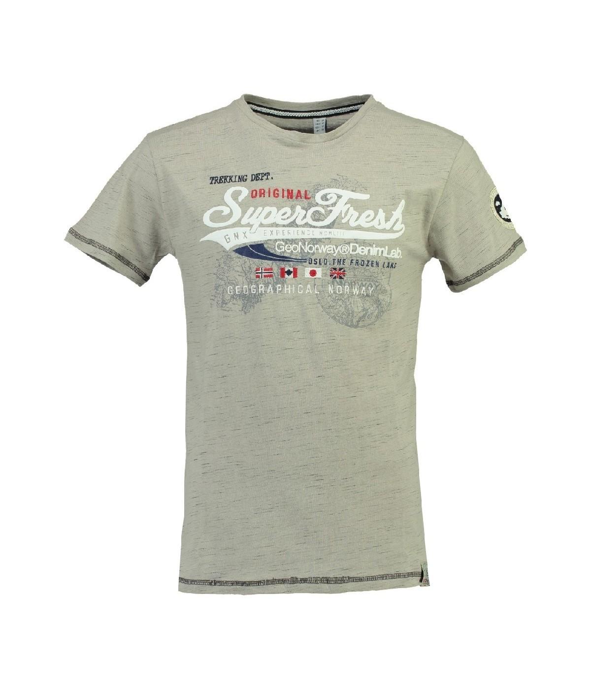 Tshirt Enfant Geographical Norway Jortelo Gris Clair