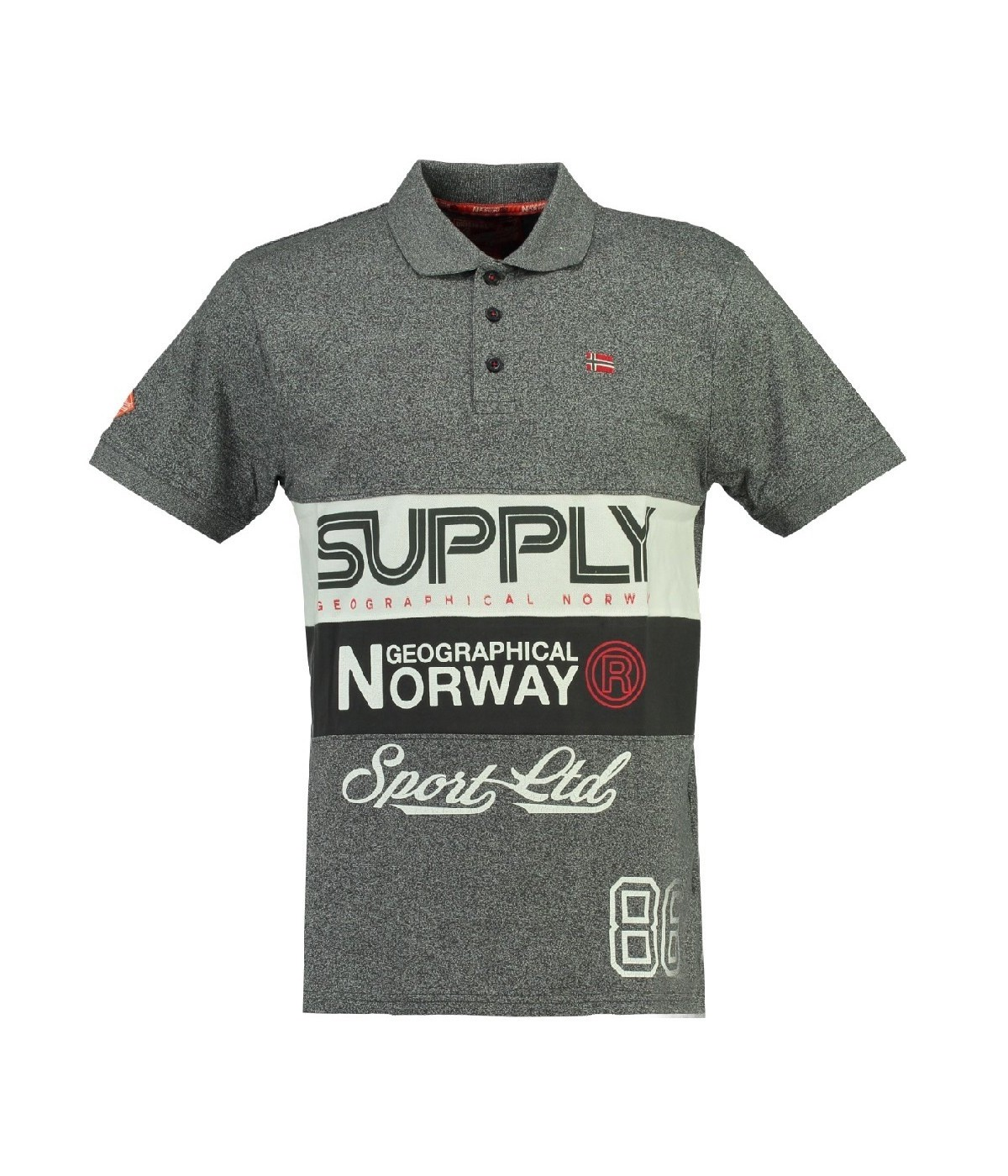 Polo Enfant Geographical Norway Karchie Gris Clair