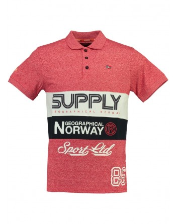 Polo Enfant Geographical Norway Karchie Rouge