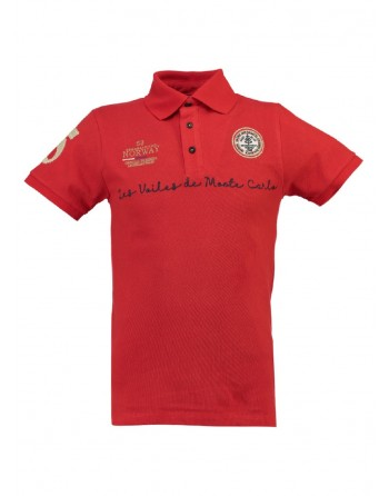 Polo Enfant Geographical Norway Kolostar Rouge
