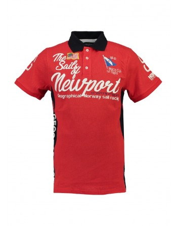 Polo Homme Geographical Norway Kayport Rouge