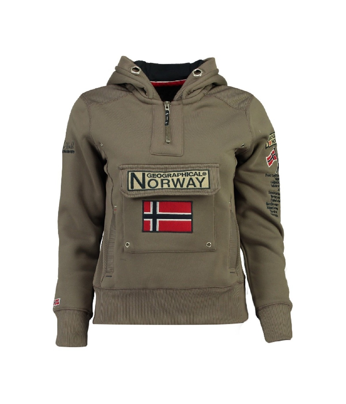 Sweat Enfant Geographical Norway Gymclass Taupe