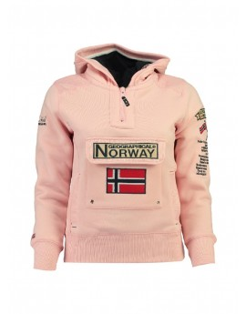 Sweat Enfant Geographical Norway Gymclass Rose
