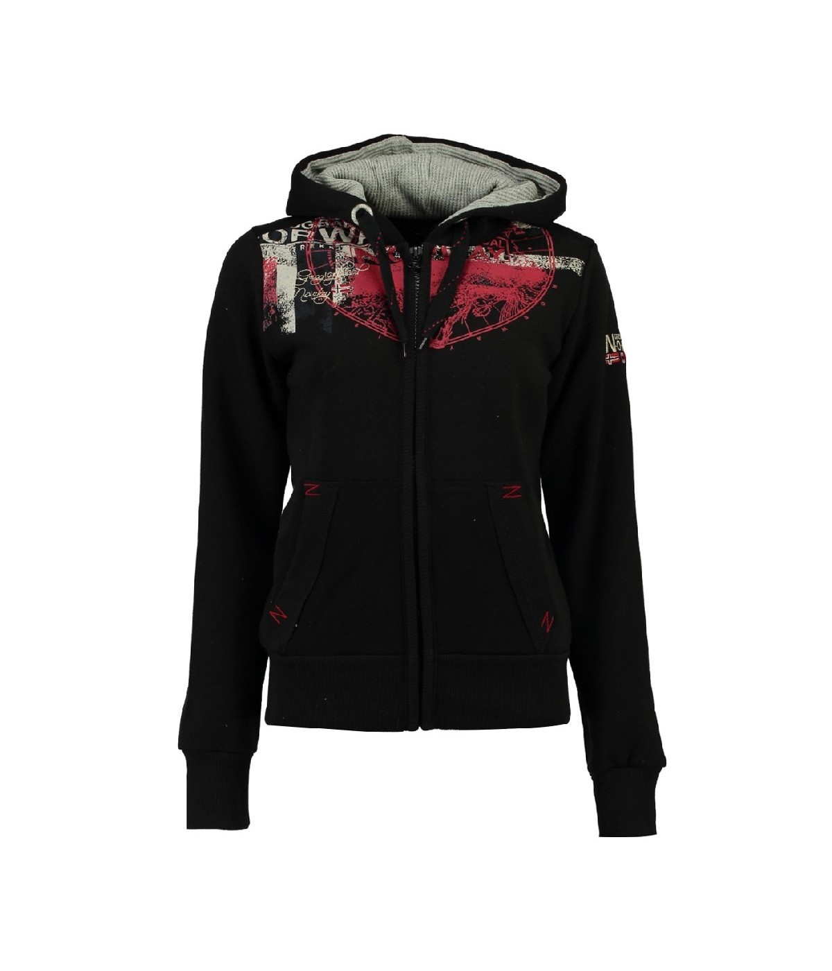 Sweat Femme Geographical Norway Gasmine Noir