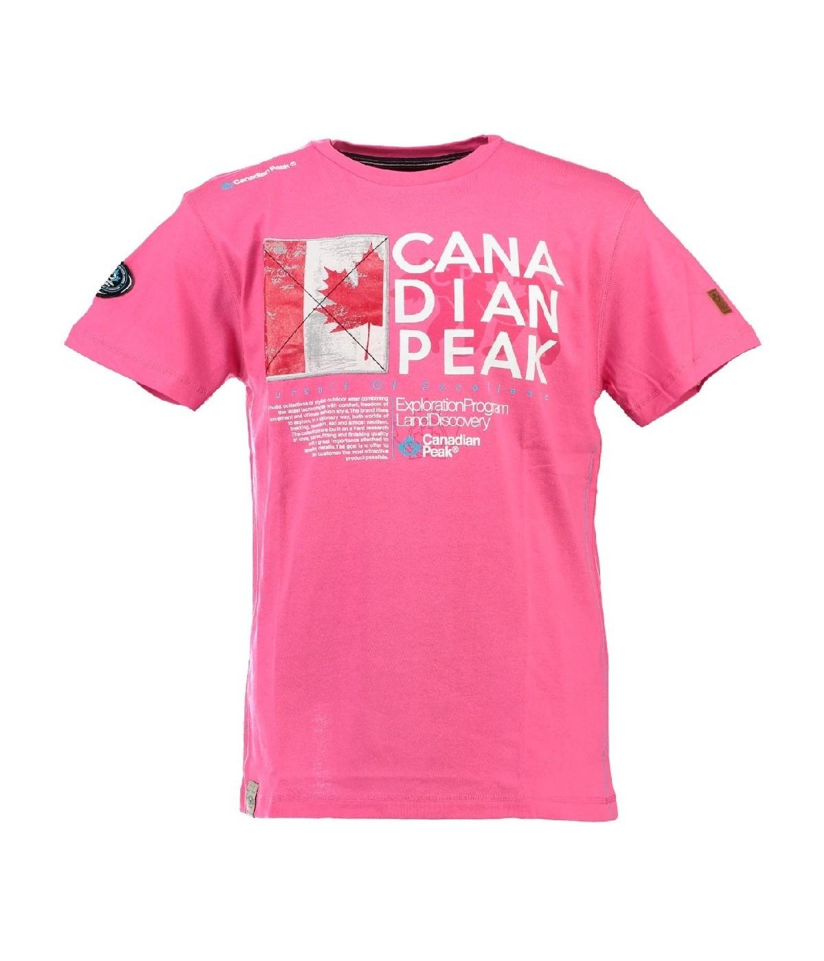 Tshirt Homme Canadian Peak Jiltord Rose