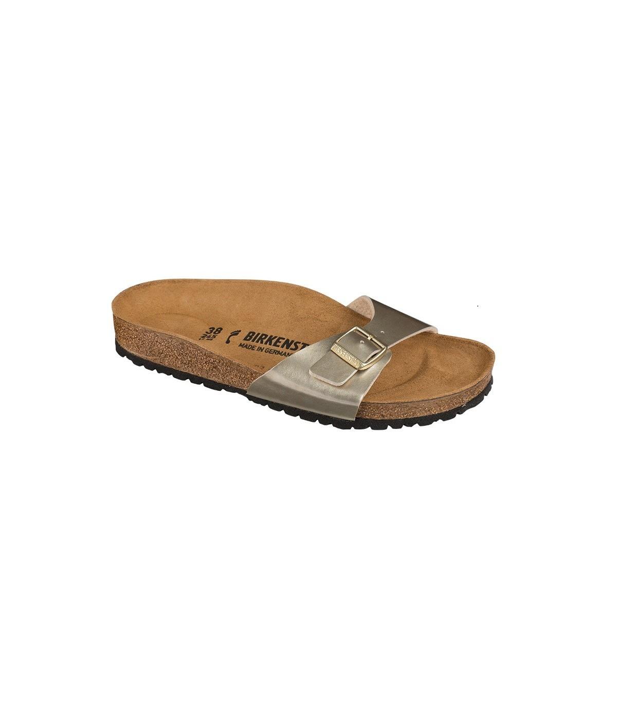 Metallic Sandale Madrid OrShowroomvip Birkenstock Soft Femme SzMpVqU