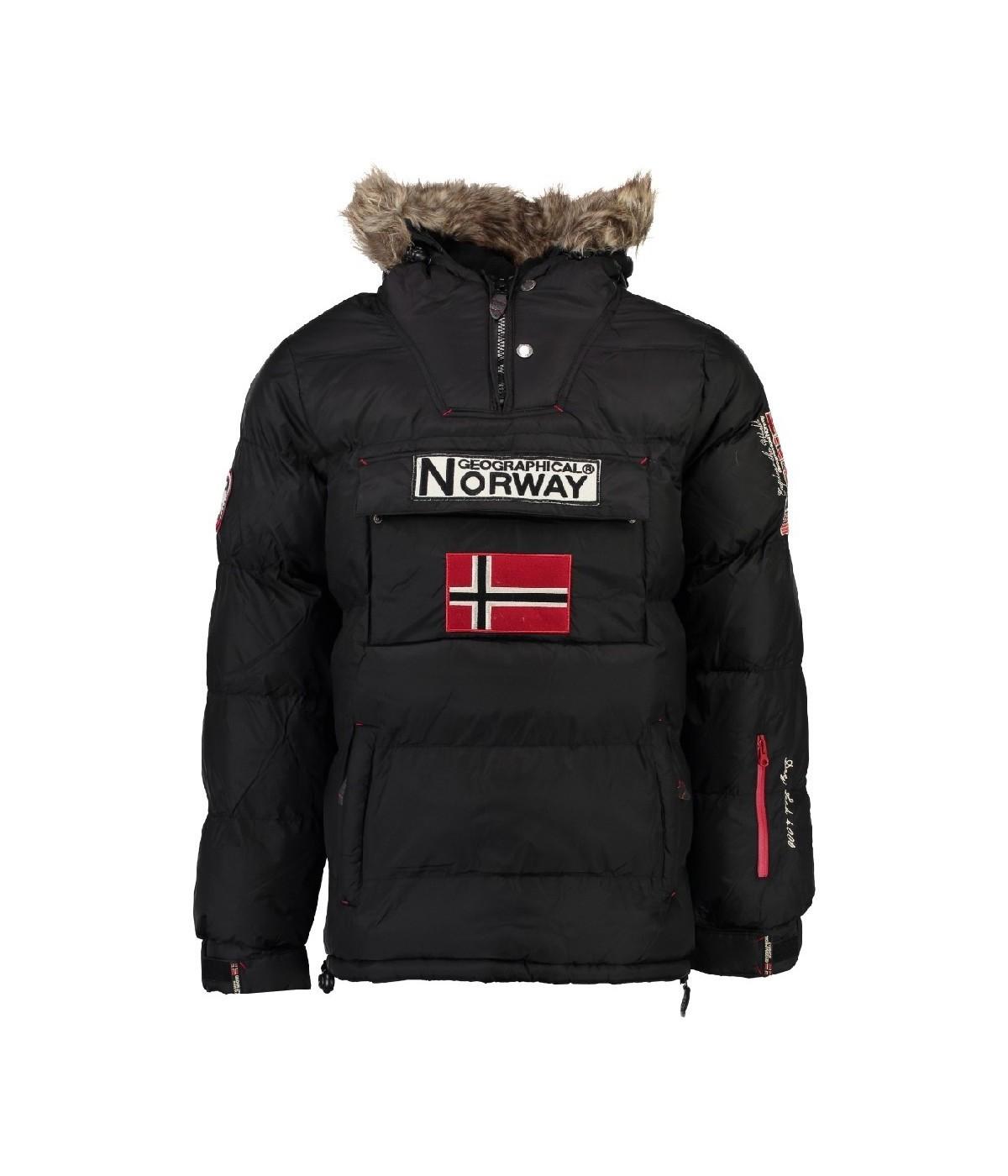 nouveau concept 6eb81 e6d8e Parka Homme Geographical Norway Brice Noir   SHOWROOMVIP : Parkas  passe-tête Homme