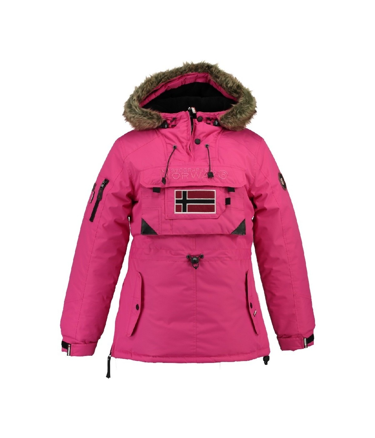 Parka Femme Geographical Norway Bougie Rose