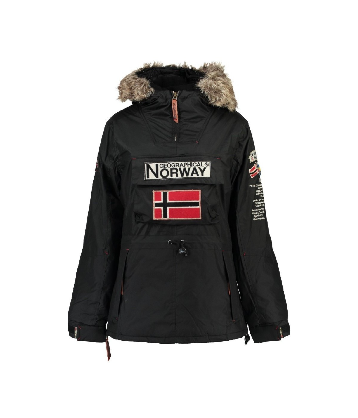 Parka Femme Geographical Norway Boomera Noir