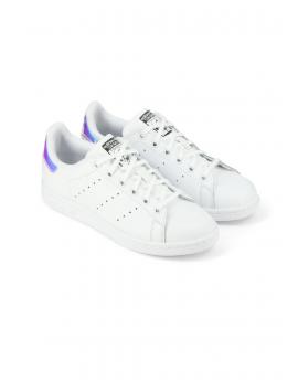 super promotions rechercher les plus récents boutique de sortie Basket Femme Adidas Stan Smith Blanc iridescent
