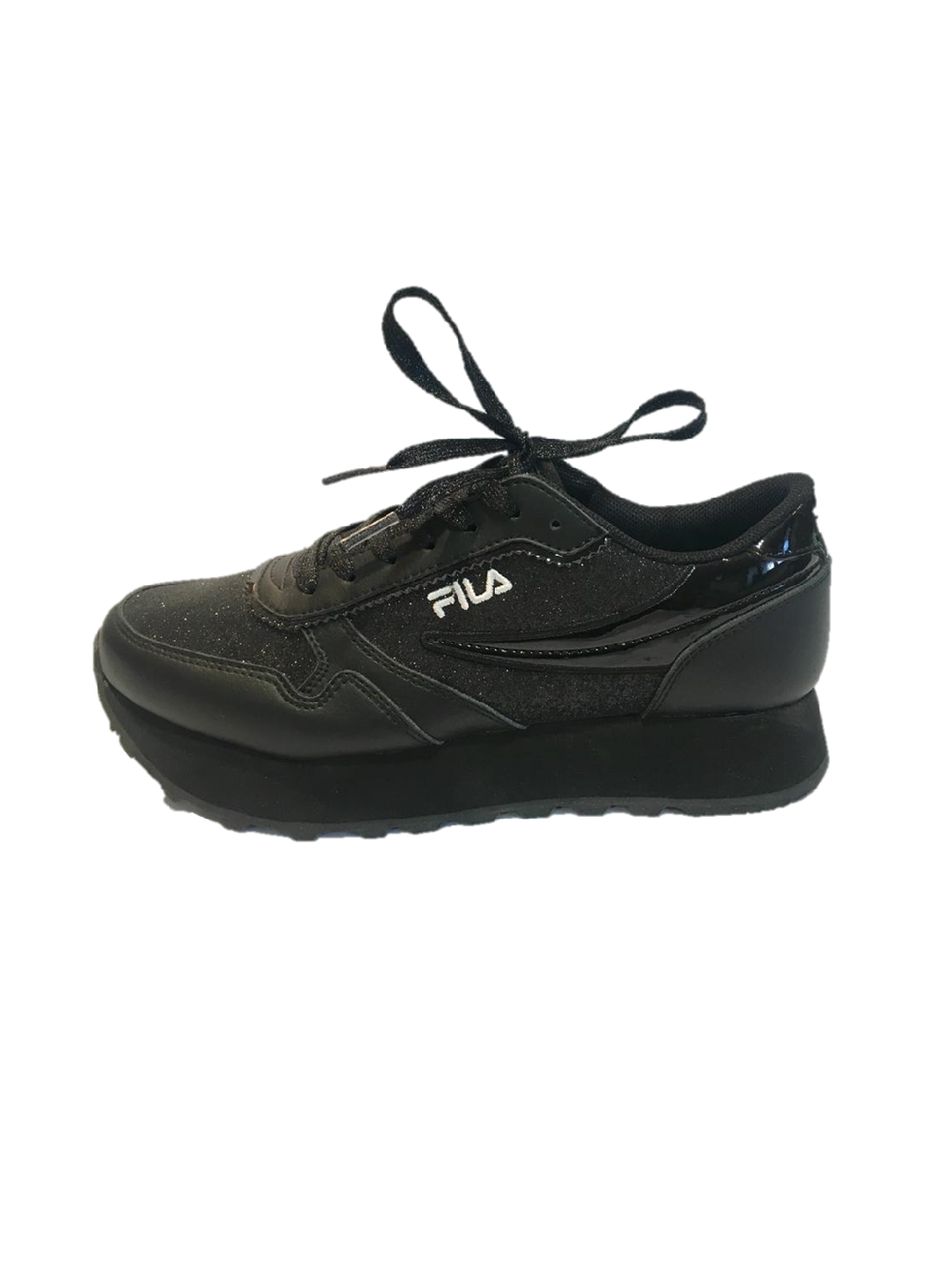 100% authentique db4c4 4d864 Basket Femme FILA Orbit Zeppa Glam Noir | SHOWROOMVIP : Baskets basses Femme