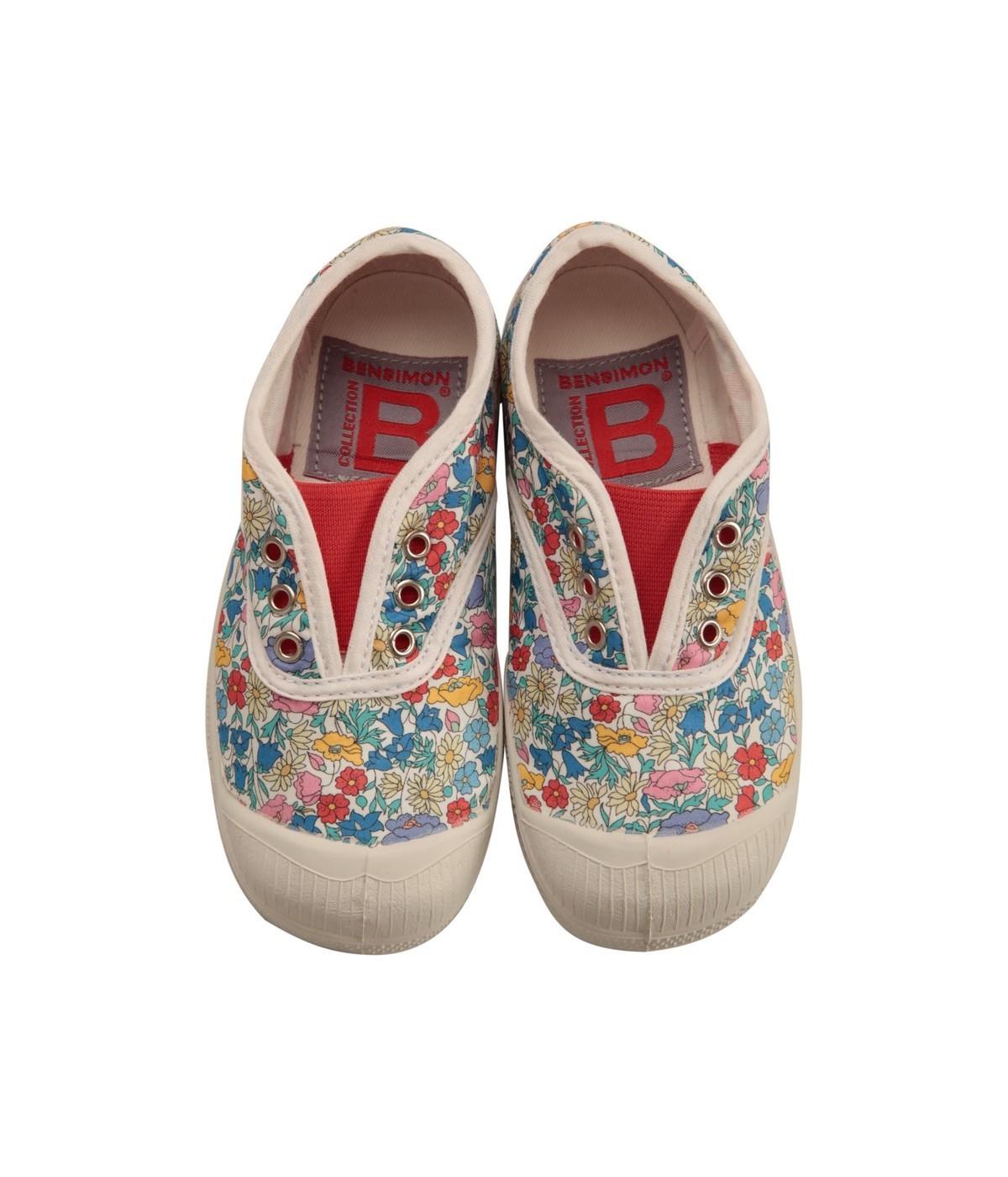 873ba8d675bff4 Basket Enfant Bensimon Tennis Elly Liberty Fleurs | SHOWROOMVIP ...