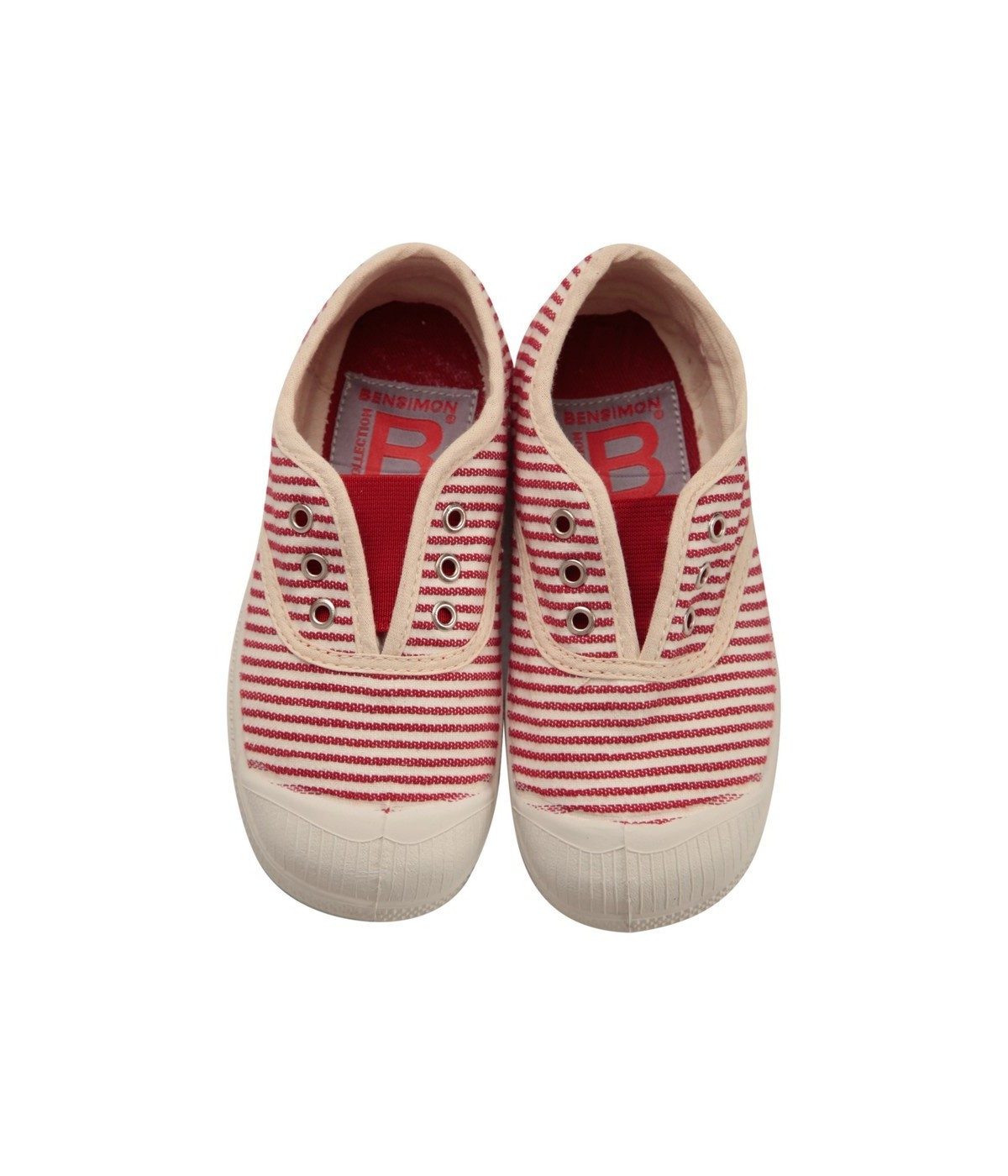 détaillant en ligne bf86b 63184 Basket Enfant Bensimon Tennis Elly Raye Rouge | SHOWROOMVIP : Baskets  basses Fille