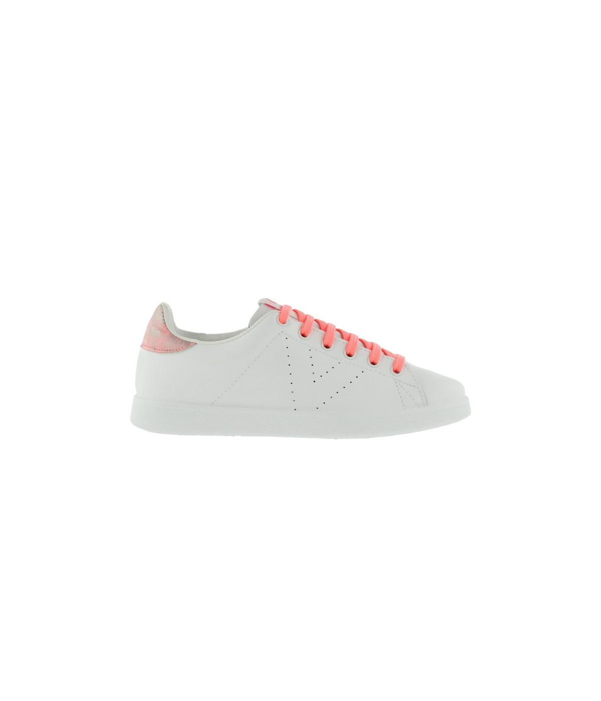 Basket Femme Victoria 1125203 Blanc et Flash Corail | SHOWROOMVIP : Baskets basses Femme