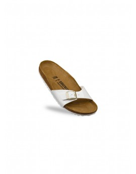 Sandale Femme Birkenstock Madrid Vernis Blanc