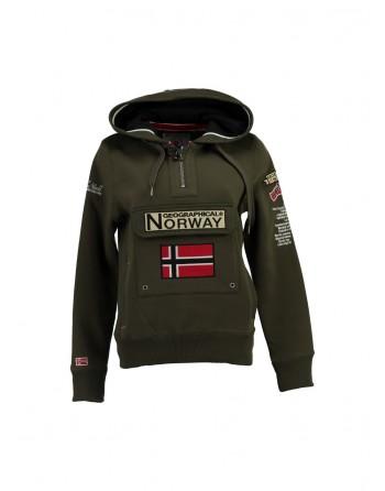 Sweat Homme Geographical Norway Gymclass New Kaki