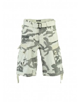Geographical Camo Bermuda Homme Norway Panoramique Blanc New 2YEWDHI9
