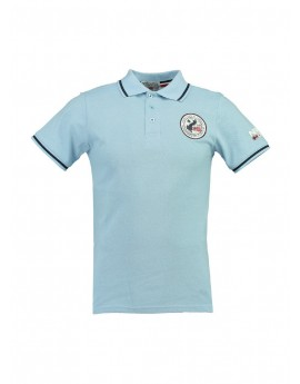 Polo Homme Geographical Norway Kamelo Bleu