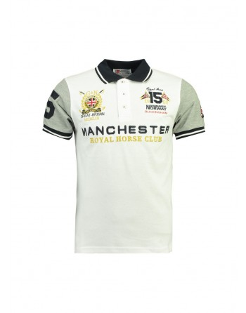 Polo Homme Geographical Norway Kingston New Blanc