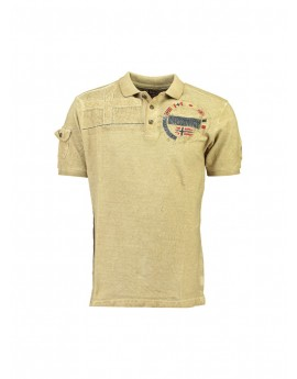 Polo Homme Geographical Norway Kinflat Beige