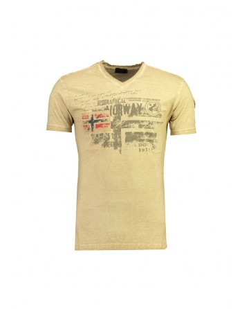 Tshirt Homme Geographical Norway Jida Beige