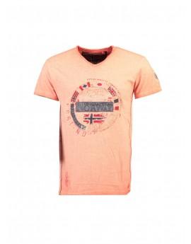 Tshirt Homme Geographical Norway Jarico Orange