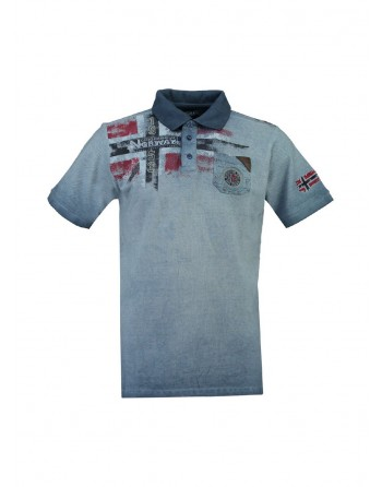 Polo Homme Geographical Norway Kamo Bleu
