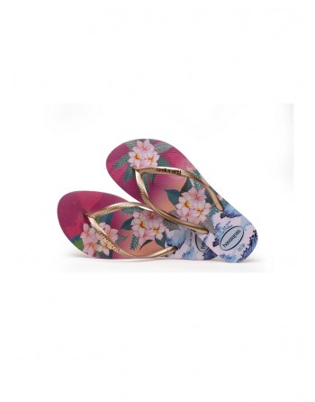 Tong Femme Havaianas Slim Tropical Sunset Hollywood Rose
