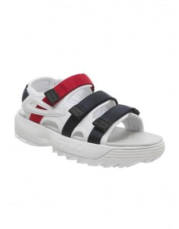 Sandale Femme FILA Disruptor Sandal Blanc Bleu Rouge