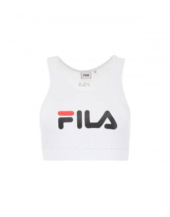 Top Femme FILA Other Crop Top Blanc