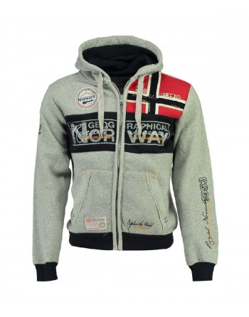 Sweat Homme Geographical Norway Flyer New Gris Clair