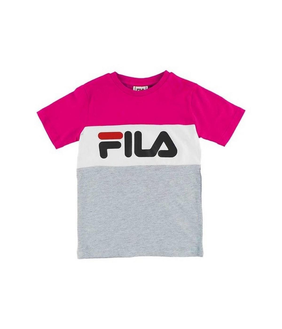 femme nouveau design pas cher Tshirt Enfant FILA Classic Day Gris Clair | SHOWROOMVIP : T-shirts manches  courtes Fille