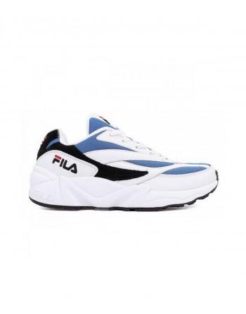 Basket Homme FILA V94M Blanc Bleu Noir