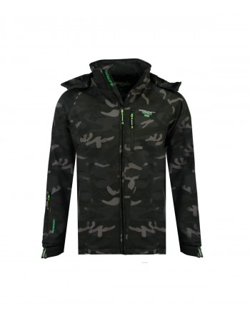 Softshell Homme Geographical Norway Taboo Camo Noir et Vert