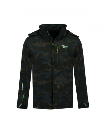 Softshell Homme Geographical Norway Taboo Camo Marine et Vert