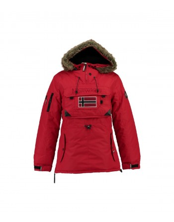 Parka Femme Geographical Norway Bulle New Rouge