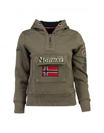 Sweat Fille Geographical Norway Gymclass New A Taupe