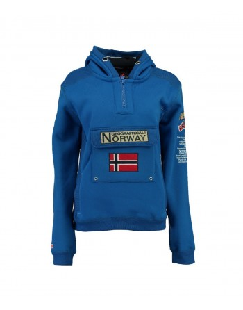Sweat Homme Geographical Norway Gymclass New B Bleu